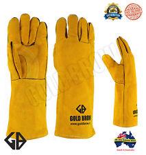 GOLDBROW XL Long Welding Gloves Split Leather Cowhide Protect Welder Hands