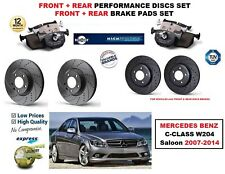 FOR MERCEDES C180 C200 W204 2007-> FRONT REAR PERFORMANCE BRAKE DISCS + PADS KIT