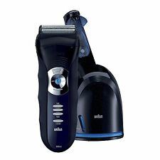 Braun 3 Series 350cc-4 Shaver, Black/Blue Clean & Renew
