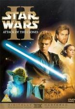 STAR WARS 2 (Two) ATTACK OF THE CLONES George Lucas Epic Sci-Fi 2 Disc DVD *EXC*