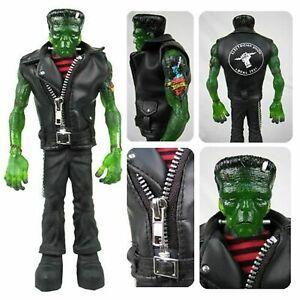 "Mezco Universal Monster 10""  REBEL FRANKENSTEIN Green Translucent Tattoo Figure"
