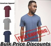 American Apparel Mens Triblend Track Tee T Shirt Blank Blend TR401W up to 2XL