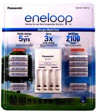 Panasonic Eneloop Recharge Battery Charger 8 AA 4 AAA Batteries NiMH