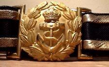British Royal Navy (Known & Identified WW1)Sr. Officer Dress Sword Belt & Buckle