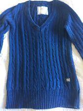 Quba Cable Knit Denin-blue Jumper 0 (12)