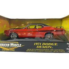 #36678 American Muscle Red/Black Stripes 1971 Dodge Demon Die Cast 1:18