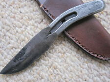 Hand Forged Horseshoe Pony Shoe Hunting Knife Small w/ leather sheath US made