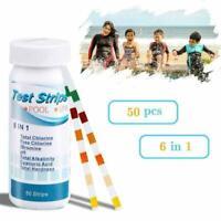 50pcs Swimming Pool/Spa/Hot Tub Test Strips Chlorine/Bromine, PH Alkalinity N1J3