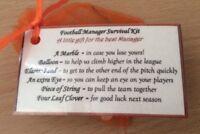 Novelty Christmas gift for men her football Manager Survival Kit gift for him