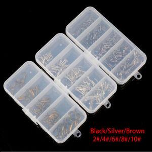 50Pcs/Box Fishing Hooks Mixed Size 2/4/6/8/10 Jig Big Treble Hooks Multi-colored