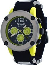 Omax PA09L22Y Men's Yellow Tone Bullet Resin Band Multi-Function Watch