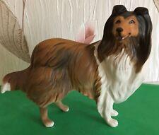 BESWICK DOG ROUGH COLLIE MODEL No 3129 BROWN & WHITE PERFECT
