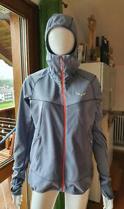 Salewa Jacke grau Fleece Waffelfleece Gr. L/42 Outdoor