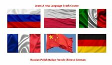Learn how to speak CHINESE GERMAN FRENCH ITALIAN POLISH Russian all on 1 disk