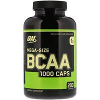 Optimum Nutrition, BCAA 1000 Caps, MegaSize, 1,000 mg, 200 Capsules, Amino Acids