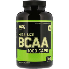Optimum Nutrition, BCAA 1000 Caps, MegaSize, 1,000 mg, 200 Capsules, Amino Acids