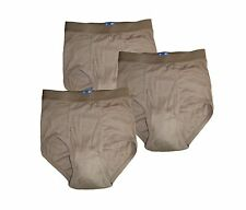 BVD MENS BRIEFS UNDERWEAR~US MILITARY~SIZE 32~(3) PACK~ARMY BROWN BRAND NEW