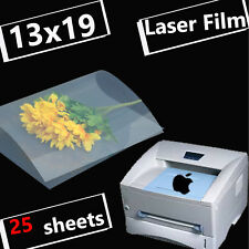 13 x 19,Silk Screen Printing Transparency Film for laser printer Paper,25 sheets