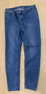Ladies New Look Skinny Blue Jeans Size 14 Leg Short B186