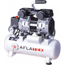 PRO Leise Druckluft Kompressor Flüsterkompressor Ölfrei 1100 Watt 10 Liter 8bar