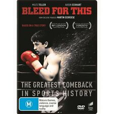 BLEED FOR THIS-DVD-Aaron Eckhart-Region 4-New AND Sealed