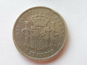 L4494     SPANIEN 5,- Pesetas 1878