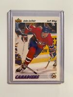 1991 1992 Upper Deck John LeClair Rookie Card RC #345 MINT Philadelphia Flyers