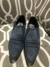 Vintage Guess By Georges Marciano Blue Low Western Bootie Sz 8