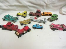 Vintage Lot of 10 Hot Wheels Tootsie Toy Matchbox Lesney & Unbranded