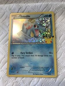2021 Pokémon Totodile 18/25 McDonald's Toy Holo!!!