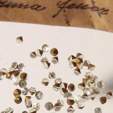 (90) 3mm Czech antique foiled crystal clear Swarovski glass rhinestones