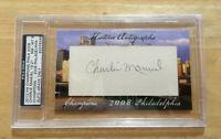 2012 HA Champions Phila 2008 Charlie Manuel 19/21 Autograph PSA/DNA + WS Ticket