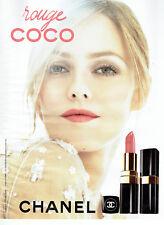 Publicité Advertising  058  2011    Chanel   lèvres rouge Coco Vanessa Paradis