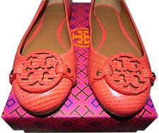 Tory Burch Reva Mini Miller Flats Tejus Melon Reptile Ballerina 9.5 Pump 39.5