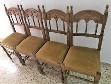Pack 4 sillas de comedor cocina salón o escritorio, silla diseño madera