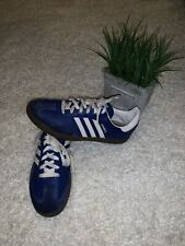ADIDAS BLUE WHITE SAMBA SNEAKERS 6