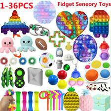 1-36PCS Popit Bubble Fidget Sensory Toy Set Autism ADHD Anti Stress Spielzeug DE