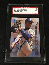 PEDRO MARTINEZ 1995 SKYBOX EMOTION SIGNED AUTO CARD #153 EXPOS SGC AUTHENTIC
