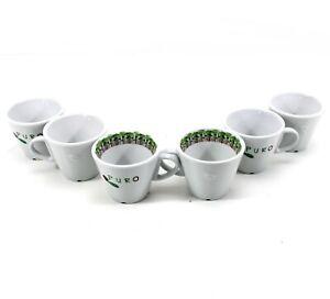 6 PURO Kaffee Tassen Forest 17cl Porzellan von Miko Tee Becher Cup ~mn1182 1115