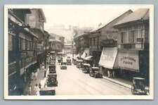 Escolta Street MANILA Philippines RPPC Antique Photo PC Cigar Store~1920s