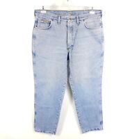 Wrangler Jeans Ohio Herren W38 L30 Blau Tapered Vintage Stonewash