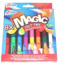 Set x8 Crayons Feutre Magic 14 cm Effet Surprenant Coloriage Dessin NEUF