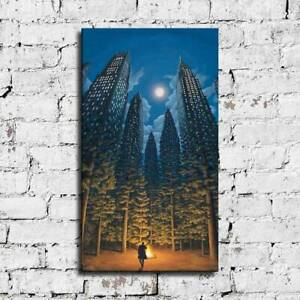 """44x24"""" Rob Gonsalves """"Arboreal Office"""" HD print on canvas large wall picture"""