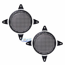 """2X 8"""" SubWoofer Metal Mesh Cover Waffle Speaker Grill Protect Guard Car Audio"""