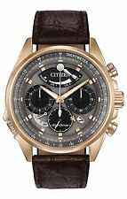 Citizen Men's Eco-Drive Calibre 2100 Chronograph Leather Strap Watch AV0063-01H