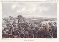 Original Hand-Tinted Lithograph: BUTTE DE MORALE, ND . RR Route Survey, 1855