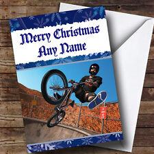Cool Bmx Bike  Personalised Christmas Greetings Card