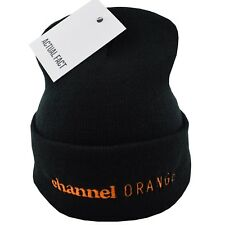 Actual Fact Frank Ocean Channel Orange Embroidered Roll Up Black Beanie Hat