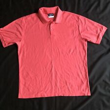 CREST  Short Sleeve Polo Shirt Size L Men's PLAY DRY Color Peach