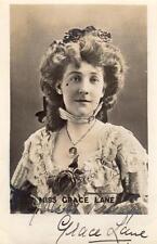 Miss Grace Lane Actress Signed Autographed  original RP postcard Ellis & Walery